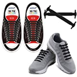 HOMAR No Tie Shoelaces for Kids and Adults - Best in Sports Fan Shoelaces - Stretch Silicone Elastic No Tie Shoe Laces with M
