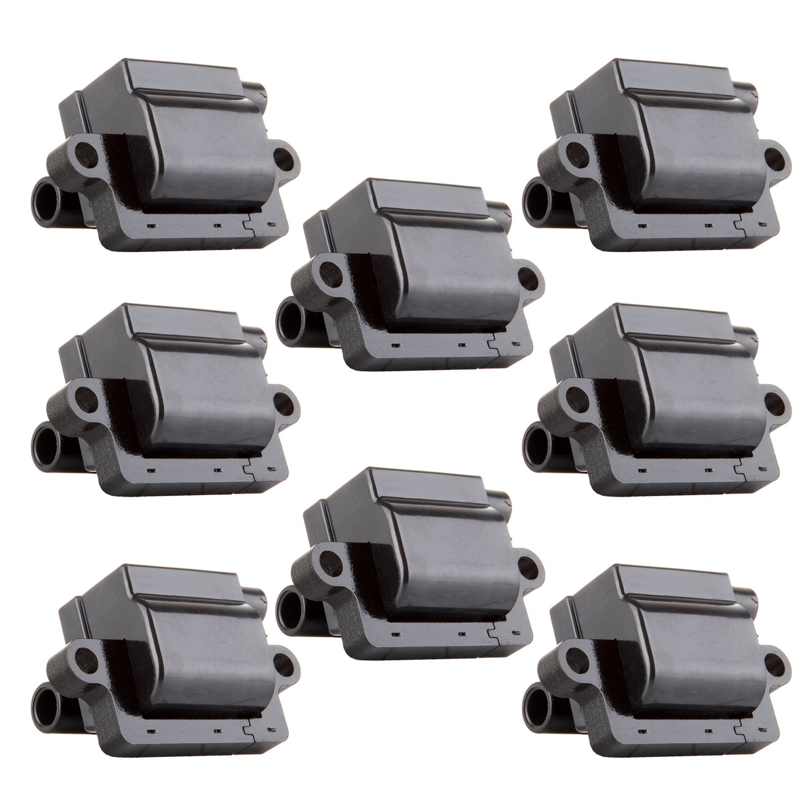 Ignition Coils Square High Performance Ignition Parts for Cadillac Chevy GMC Hummer Isuzu Workhorse Compatible with UF271 C1208 (Pack of 8) by ECCPP