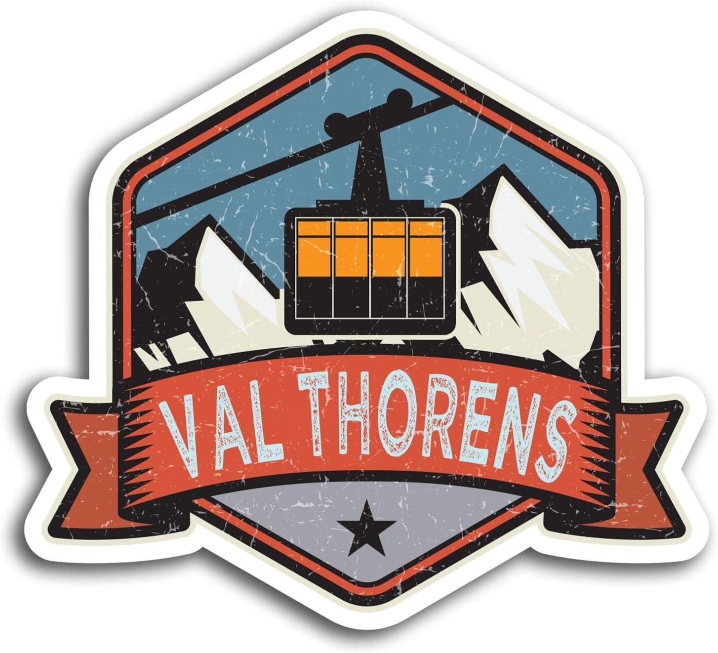 2 x 10cm Val Thorens France Ski Vinyl Stickers - Sticker Laptop Luggage #19518 (10cm Wide)