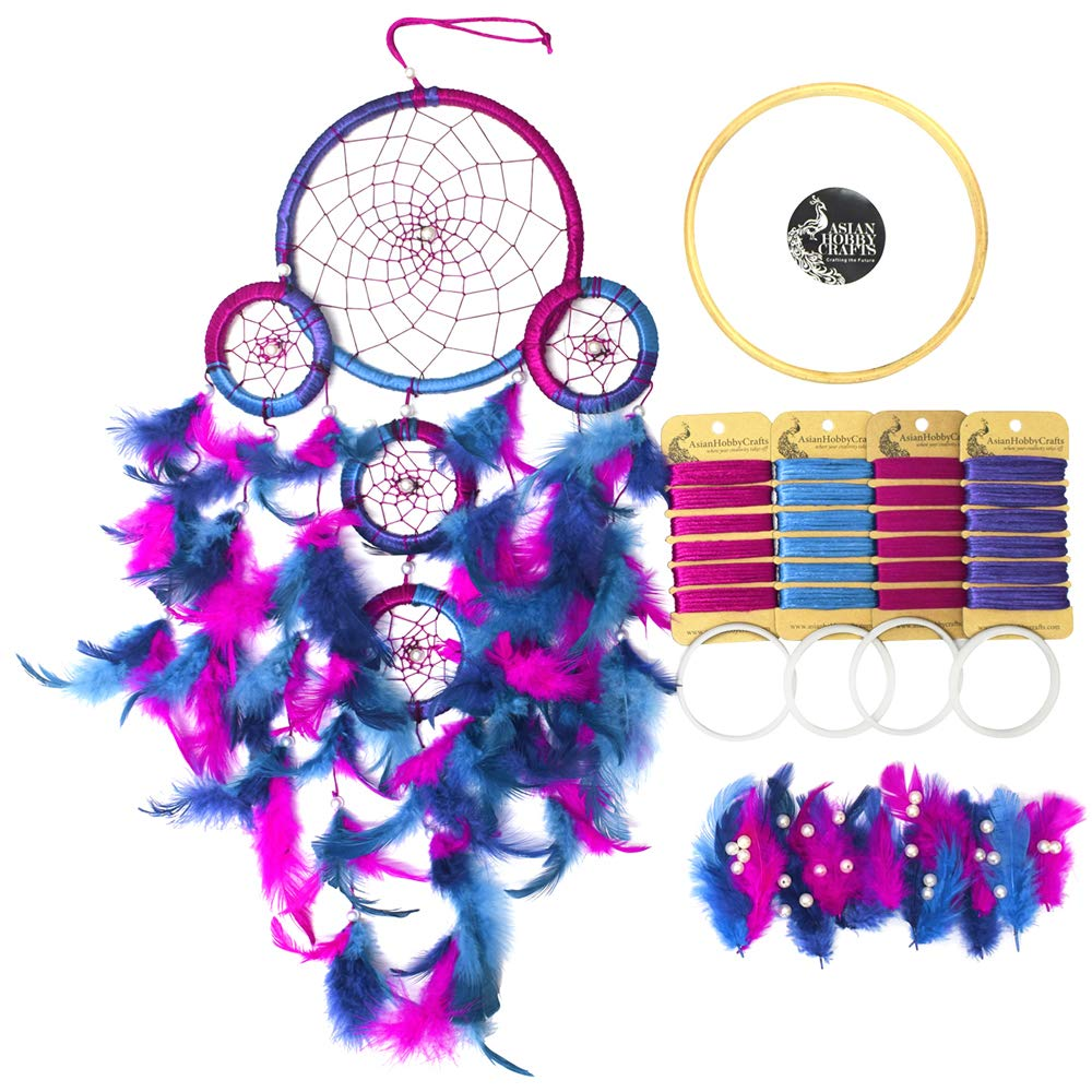 Amazon Com Asian Hobby Crafts Diy Dream Catcher Kit Make One
