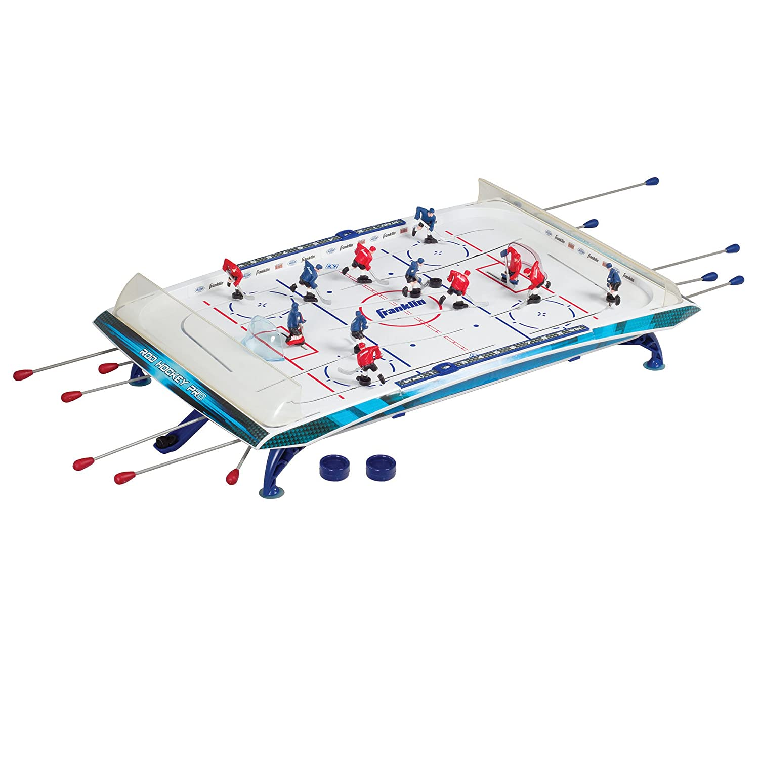Franklin Sports Pro Action 2 Rod Hockey Game, 32-Inch X 20-Inch X 8-Inch 14035