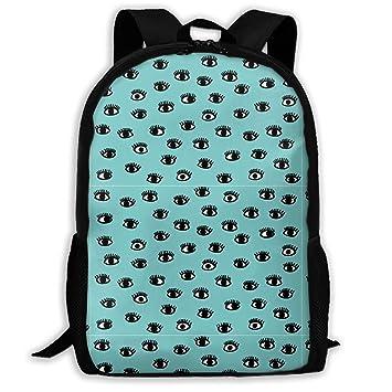 682ab7da7baa Amazon.com : TAOHJS106 Eyes Pattern Waterproof Adult Backpack ...