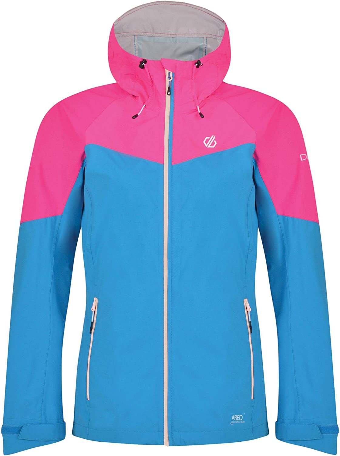 Dare 2b Womens Reconfine Lightweight Waterproof and Breathable Hooded Outdoor Hiking Jacket