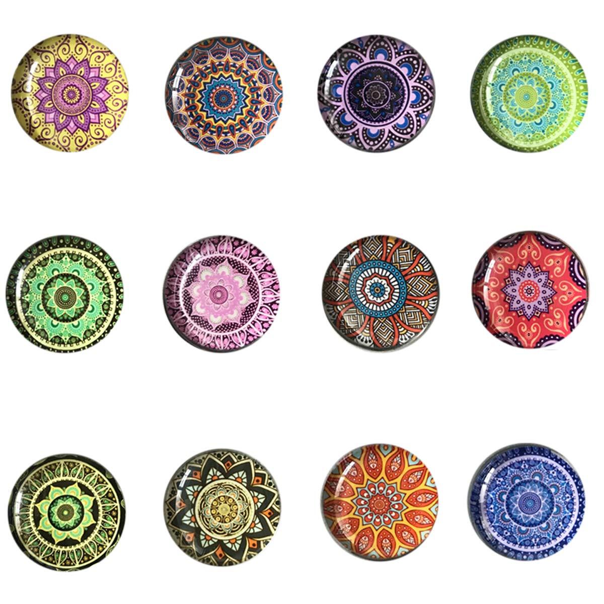 Amazon.com: Imanes de cristal para nevera, 24 piezas ...