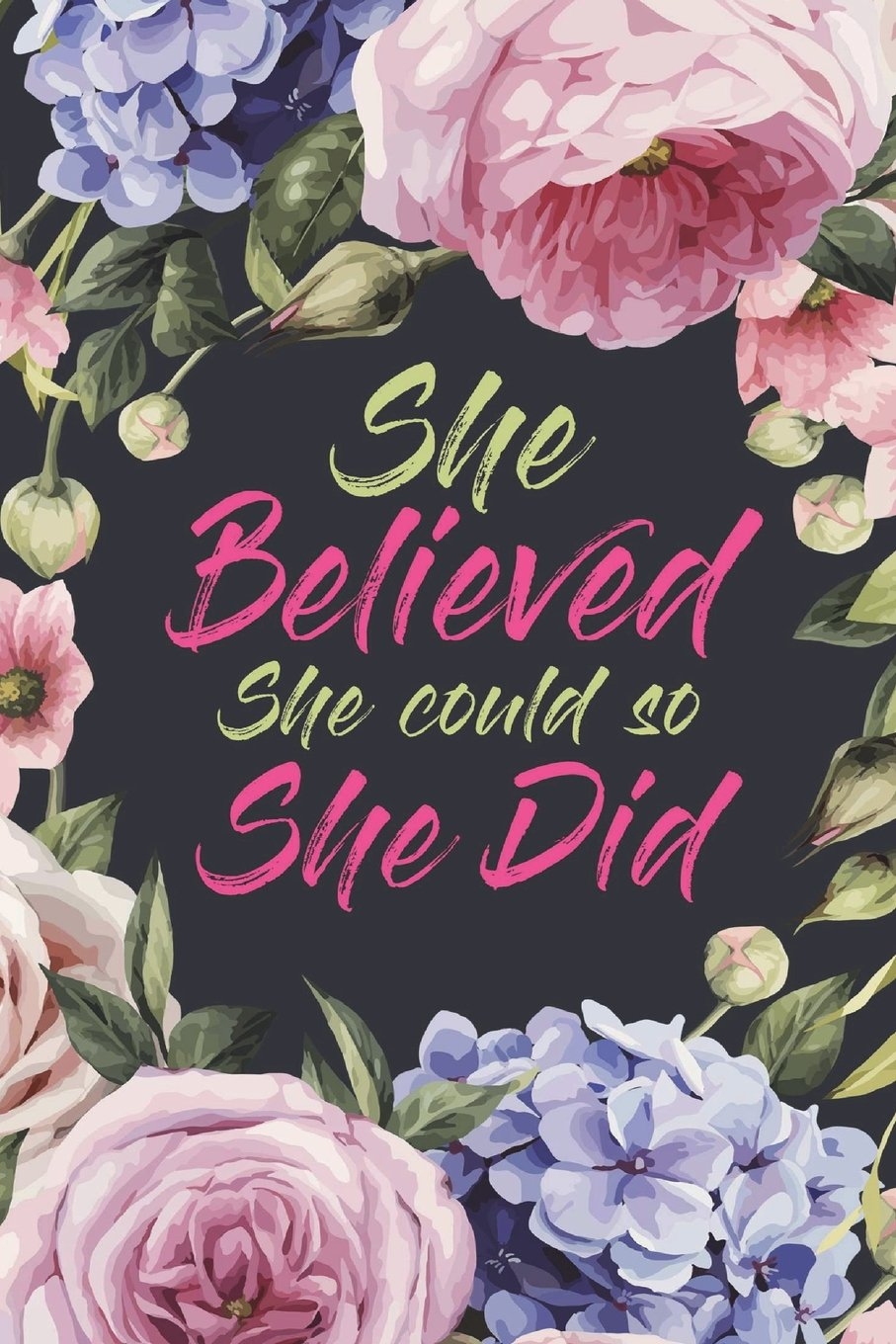 She Believed She Could So She Did: 2018-2019 18-Month Perfect Planner With  Yearly Calendar, Monthly Calendar, Weekly Calendar, Daily Organizer Agenda  ...