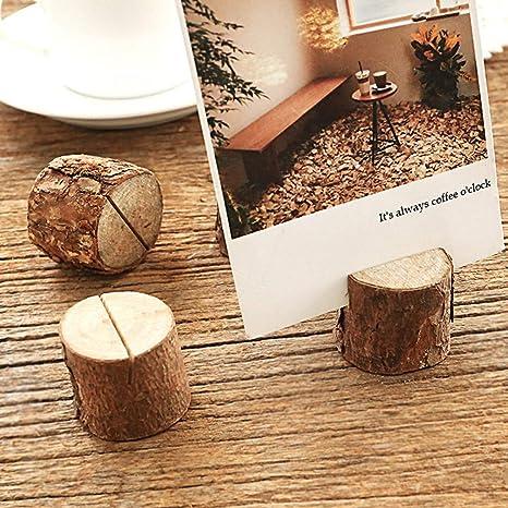 Binory - 10 clips de madera rústica para números de mesa ...