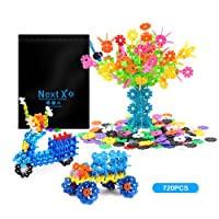 NextX Building Toys Stacking Blocks with Storage Bag, Educational Games and Learning Toys for Children,720 PCS