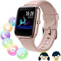 Fitnessmätare med pulsmätare, smart klocka, smartklocka kvinnor män barn vattentät IP68 GPS-aktivitetsmätare…