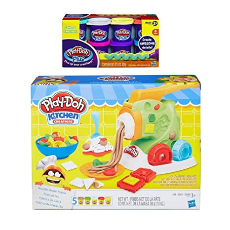 play doh kitchen creations noodle makin mania play doh plus compound bundle - Kitchen Creations