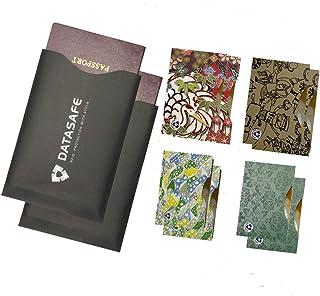 RFID manches (10carte de crédit et 2films protecteurs passeport) meilleure protection contre le vol d'identité Housse de voyage Ensemble. guides de Smart Fit Wallet noir Rfidsafcard