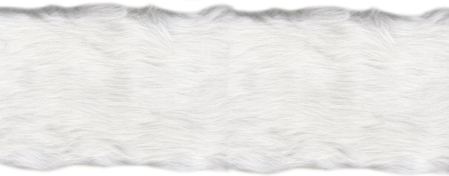 Wright Products Simplicity Fur Trim 4'' X6yd, White by Wright Products