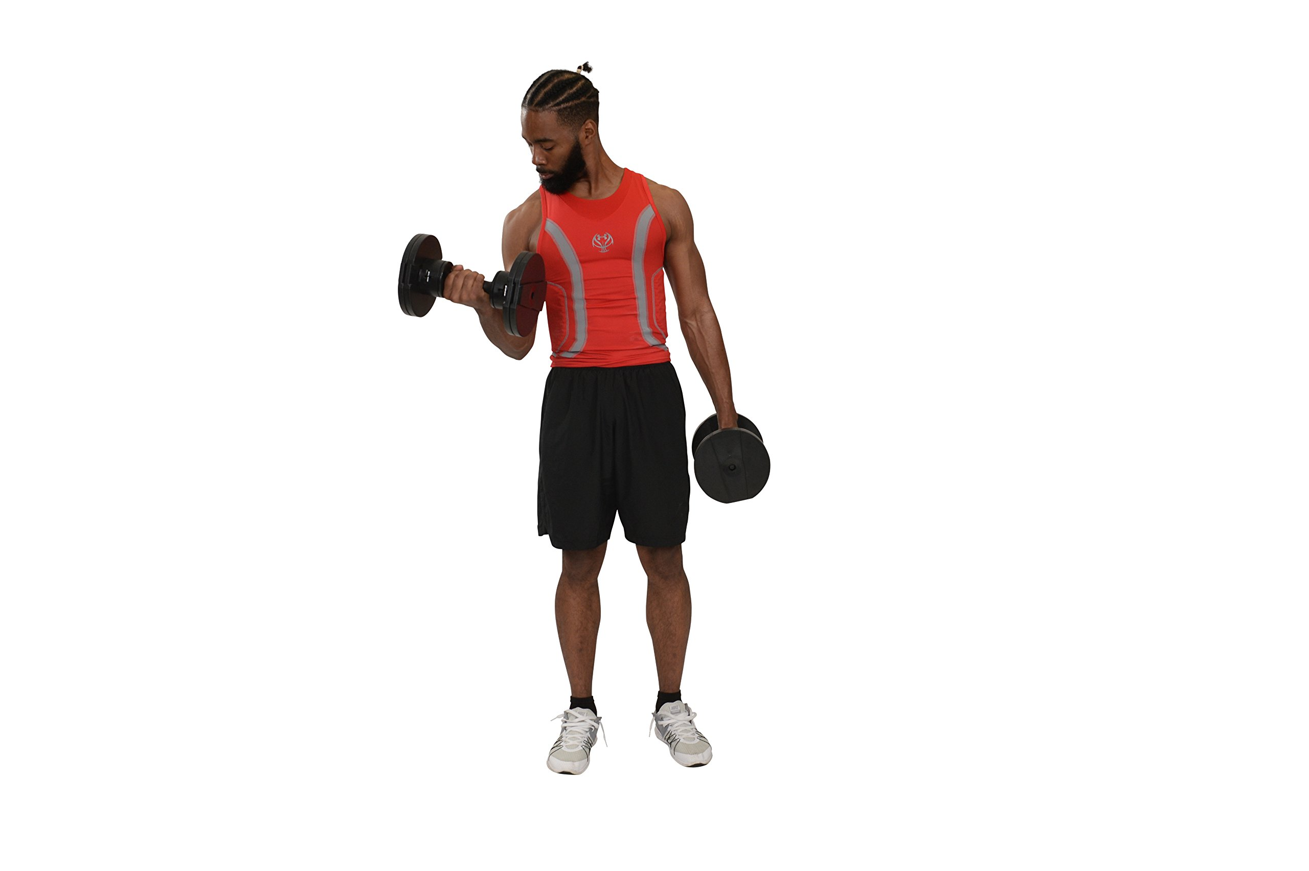 Core Fitness® Adjustable Dumbbell Weight Set by Affordable Dumbbells - Adjustable Weights - Space Saver - Weights - Dumbbells for Your Home - by Core Fitness® (Image #5)