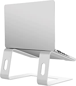Orionstar Laptop Stand Portable Aluminum Laptop Riser Compatible with Apple Mac MacBook Air Pro 10 to 15.6 Inch Notebook Computer, Detachable Ergonomic Elevator Holder, Silver