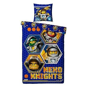 Bettwäsche Lego Nexo Knights Bezug 135x200cm Kissen 80x80cm 100