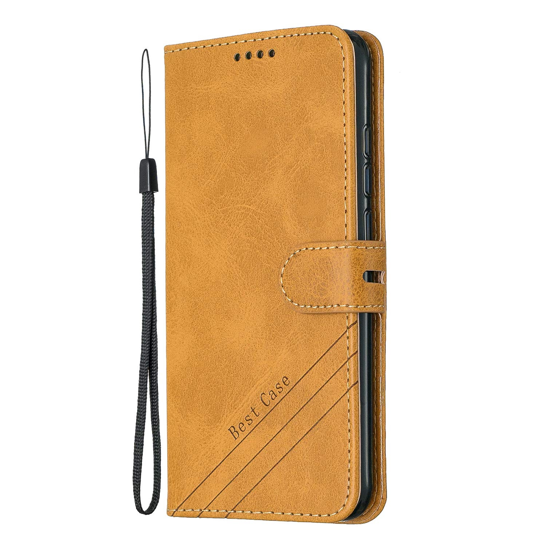 Lomogo Coque Xiaomi Redmi Note 7//Note 7 Pro Portefeuille Housse en Cuir avec Porte Carte Fermeture par Rabat Aimant/é Antichoc /Étui Case pour Xiaomi Redmi Note 7 LOHEX120570 Jaune