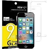 Panzerglasfolie Schutzfolie für iPhone 5s,5,SE,5C, [2 Stück] NEWC® Tempered Glass 9H Hartglas, Anti Öl, Kratzen und Fingerabdrücke Blasenfrei, HD Displayschutzfolie, 0.33mm HD Ultra-klar für iPhone 5s,5,SE,5C