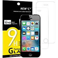 Pack de 2 Verre Trempé iPhone 5 5S SE 5C, NEW'C Film Protection en Verre trempé écran Protecteur - ANTI RAYURES -Dureté 9H Glass Screen Protector pour iPhone 5/5S /5C/SE