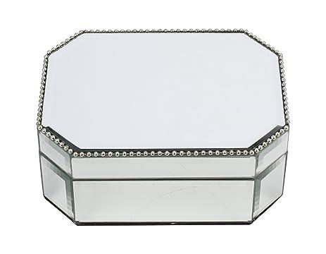 Amazoncom Kenton Grey Glass Jewelry Organizer Tabletop Metal