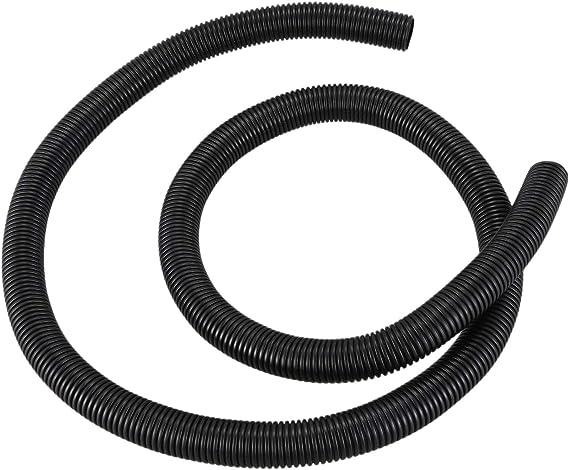 Cikuso Tubo de conducto ondulado flexible de Plastico negro 20 mm de diametro interno 5pies