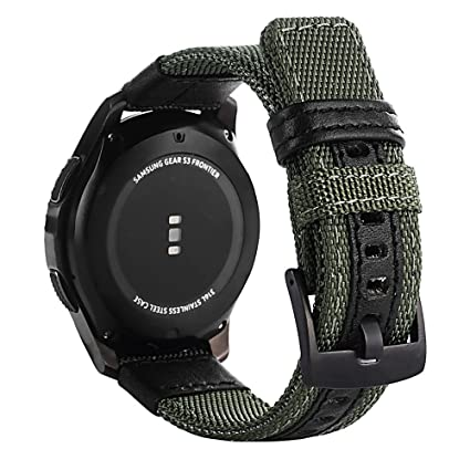 Leagway Watch Band for Samsung Gear S3, 22mm Nylon Replacement Sport Strap Wristband Bracelet for Samsung Gear S3 Classic/Gear S3 Frontier Smart ...