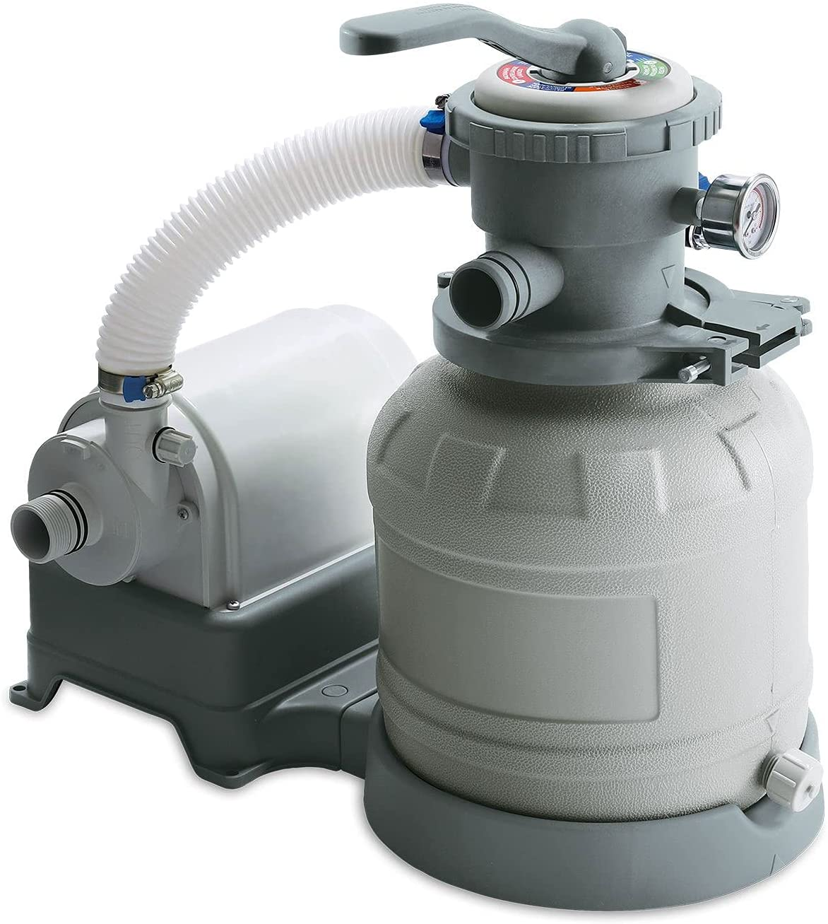Summer Waves P53ST1100 Universal 10 Inch Sand Filter Pump Pool Cleaning System with 6 Function Handle for Above Ground Swimming Pool