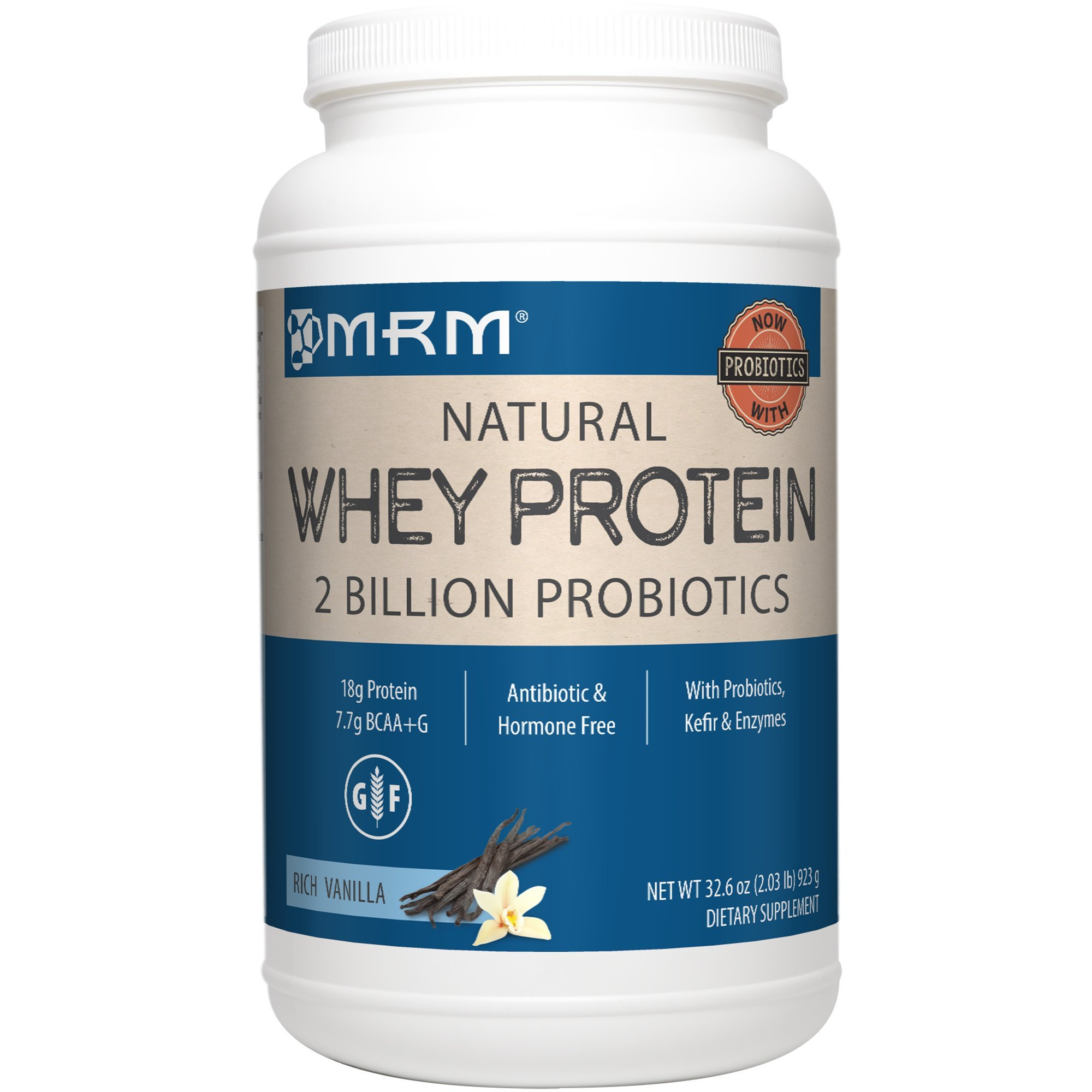 MRM - Whey Protein Powder, Maximum Muscle Growth and Development, with Essential Amino Acids (Rich Vanilla, 2 lbs)