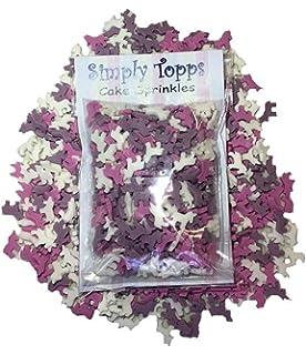 Pink White Purple Mini Unicorn Sprinkles 25g cake or cupcake decorations Edible