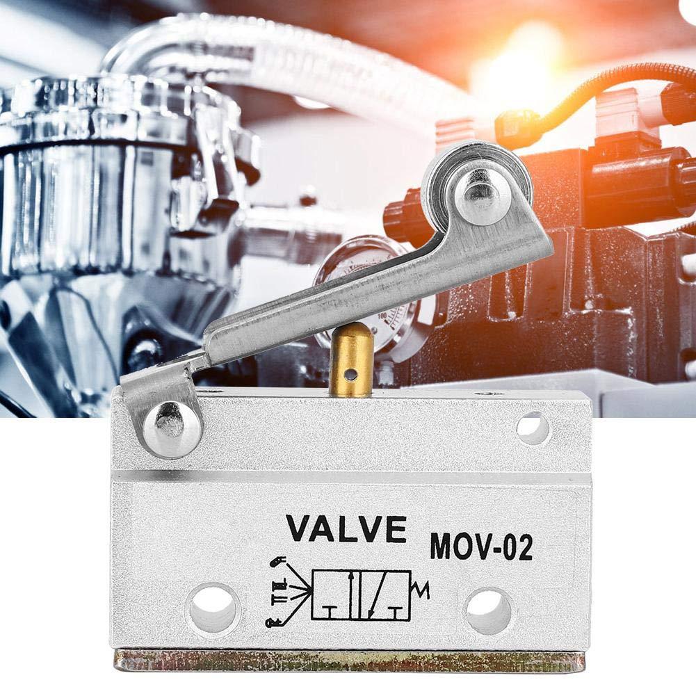 sjlerst Valvola Meccanica pneumatica valvola Meccanica pneumatica pneumatica della Leva del Rullo del Filetto MOV-02 G1//8 0-0,8 MPa Prestazioni stabili e affidabili