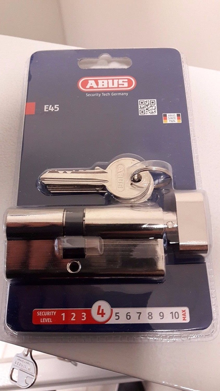 ABUS E45 Cylinder Lock With 3 Keys (30/40 Thumbturn)