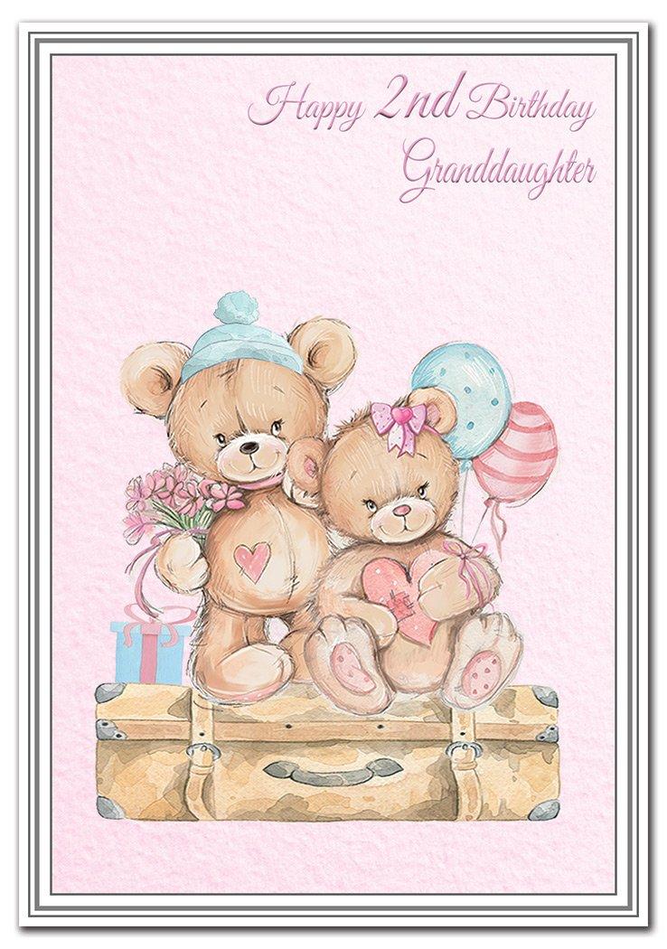 Tarjeta de felicitación de 2º cumpleaños para nieta ...