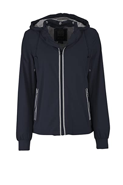Geox Woman Jacket, Chaqueta para Mujer, Azul (Dark Navy), 40
