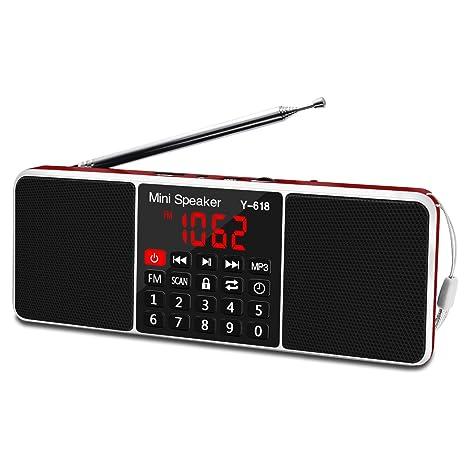Digital Fm Radio Media Lautsprecher Mp3 Musik-player Unterstützung Tf Karte Usb Led-bildschirm Mini Tragbare Bluetooth Radio Tragbares Audio & Video