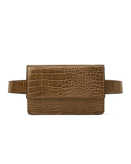 c6327f0b Zara Women's Animal print crossbody belt bag 1651/004: Amazon.co.uk ...