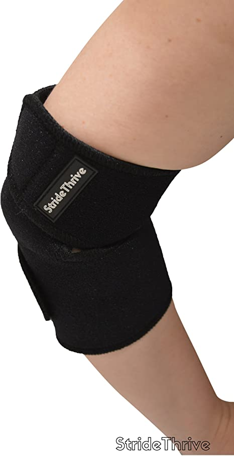 Stridethrive Single Tennis Elbow Support Suffering With Tennis Elbow Golfers Elbow Cubital Tunnel Or Hyperextension Elbow Maximum Ulnar Nerve Support Through Our Neoprene Elbow Brace Technology Amazon Co Uk Sports Outdoors