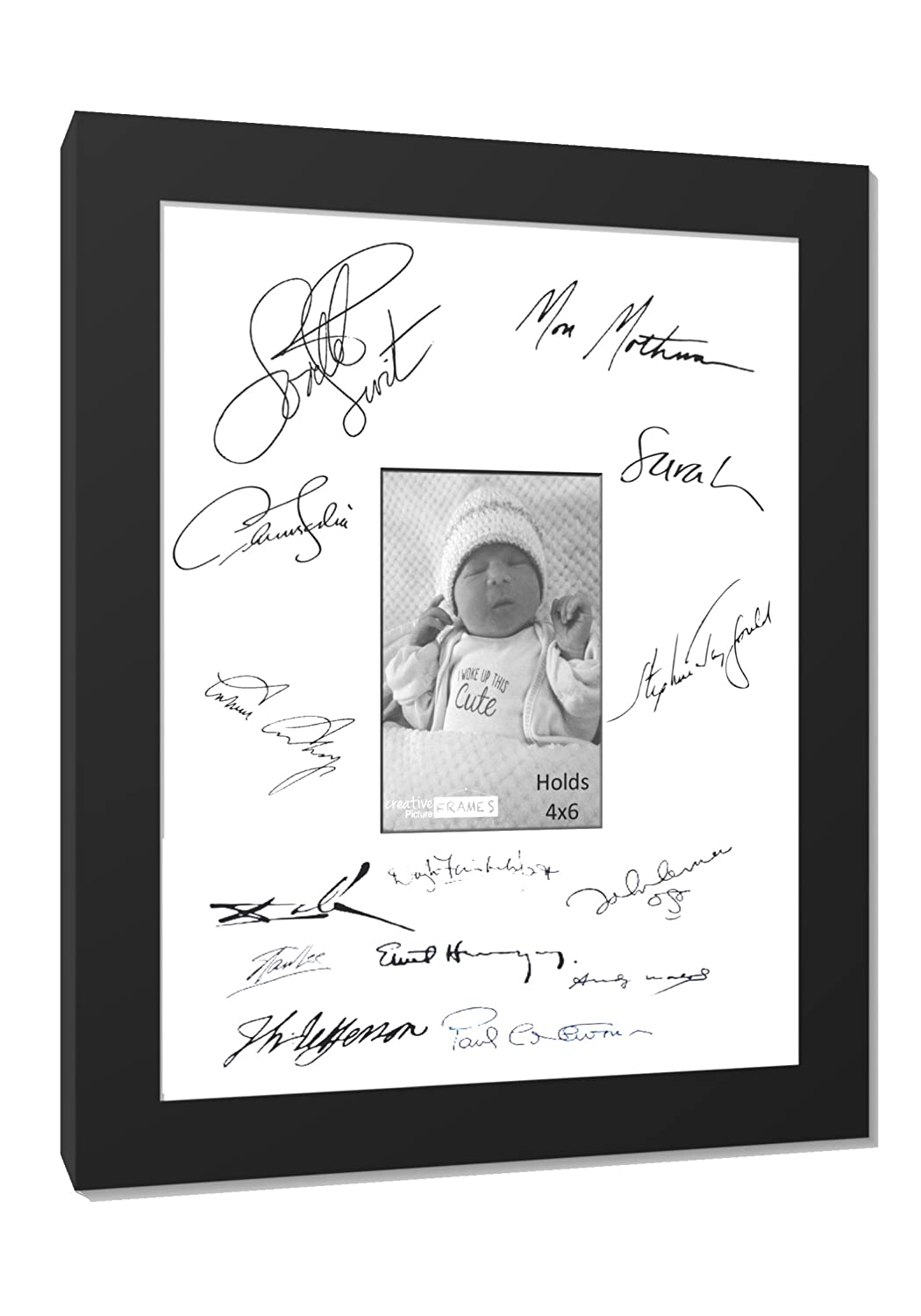 Amazon.com - CreativePF [4x6-8.5x11b-w] Signature Frame - Photo ...