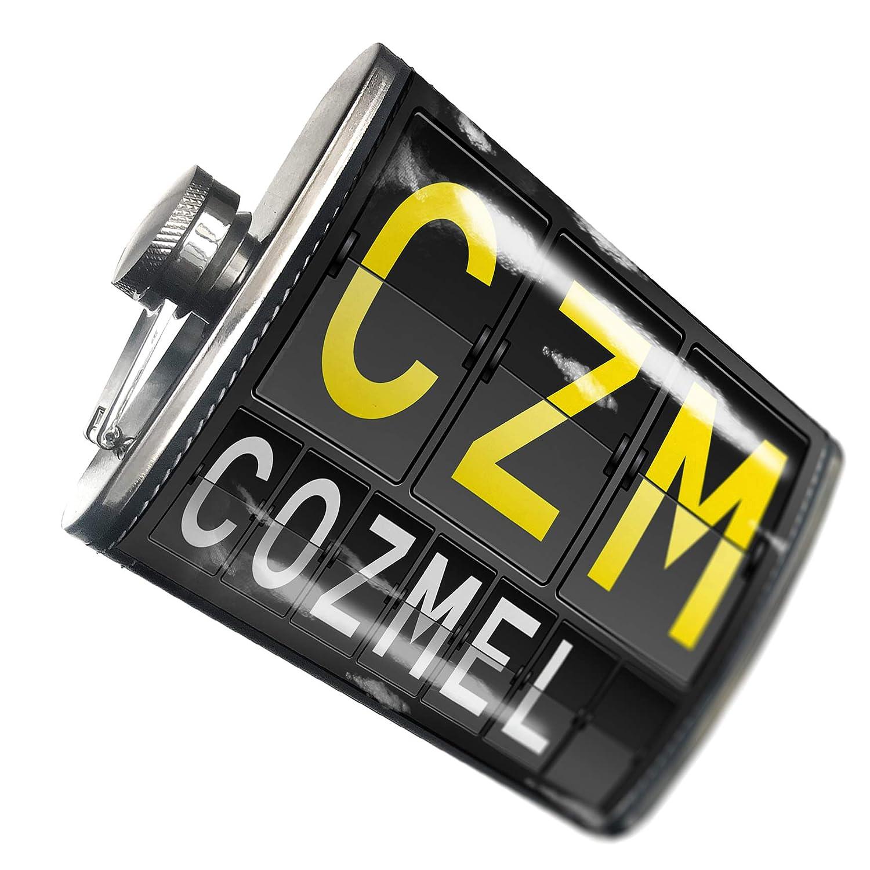 8オンスフラスコステッチCZM Airportコードfor Cozmelステンレススチール – Neonblond   B00QQVF1CO