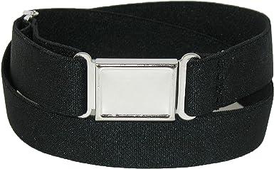 CTM/® Kids Elastic Stretch Adjustable Belt with Magnetic Buckle Light Pink