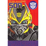 Transformers 4 - Son Birthday Card With Badge