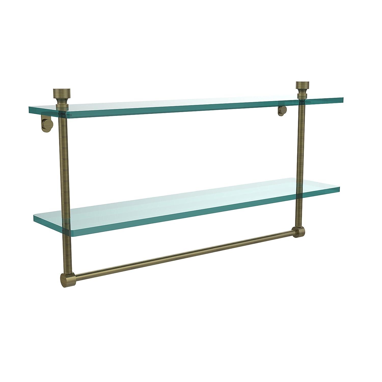 Allied Brass FT-2/22TB-ABR 22-Inch Double Glass Shelf with Towel Bar by Allied Brass B004J4DRB2 アンティーク真鍮 アンティーク真鍮