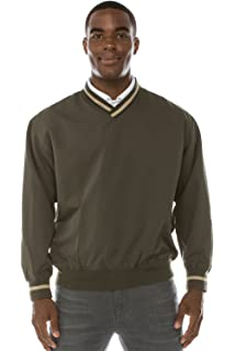 JC DISTRO Mens Athletic Golf V-Neck Pullover Water Resistant Windshirt with Pockets