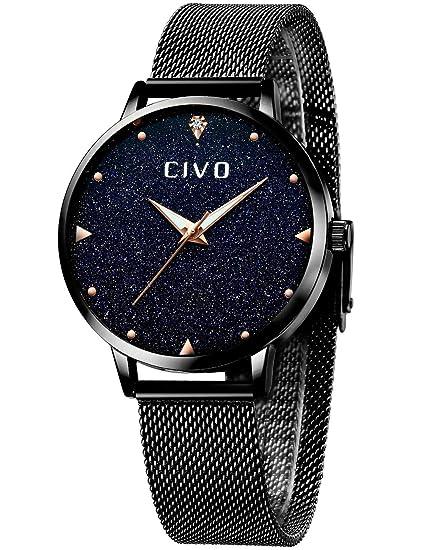 CIVO Relojes para Mujer de Acero Inoxidable Impermeable Relojes de Pulsera Señoras Chicas Adolescentes Fresco Moda Diseñador Negocios Casual Reloj ...