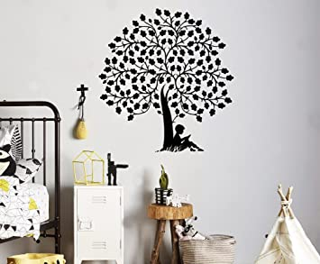 Amazoncom Reading Book Tree Wall Vinyl Decal Library School Wall - Custom vinyl wall decals for classrooms