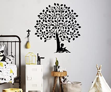 Reading Book Tree Wall Vinyl Decal Library School Wall Sticker Classroom Interior Living Room Window Decals  sc 1 st  Amazon.com & Amazon.com: Reading Book Tree Wall Vinyl Decal Library School Wall ...