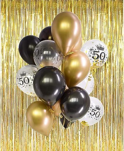 Amazon.com: Kit de decoración para 50 cumpleaños – Globos de ...