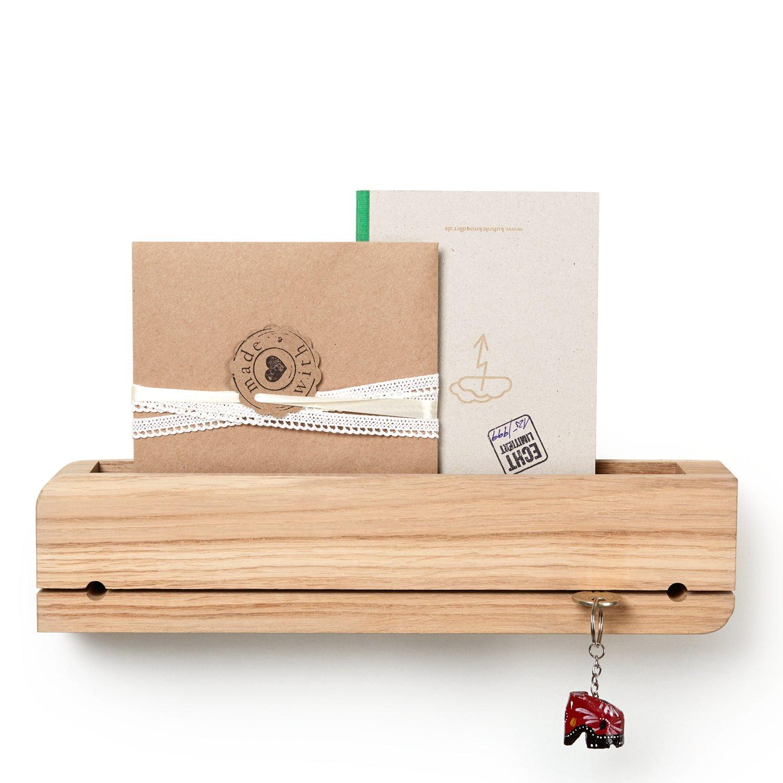 Natuhr portachiavi porta lettere in legno doorganizer da mensola di chiavi lettere quercia non trattata smartphone