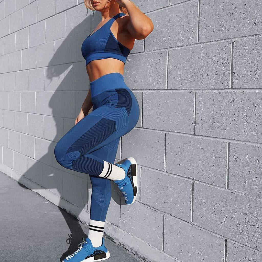 HTDBKDBK Women Fashion Solid High Waist Long Pants Leggings Running Yoga Pants Workout Pants