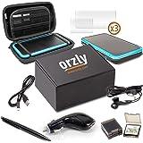 Accessori 2DSXL, Kit di Orzly per New Nintendo 2DS XL (Confezione include: Caricabatterie Auto / Cavo di ricarica USB / Custodia per Console / Custodie per Cartucce e molto altro... (vedi descrizione)