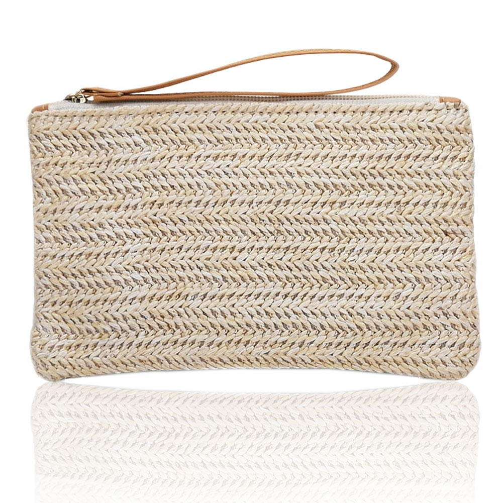 Straw Clutch Bag Bohemian...