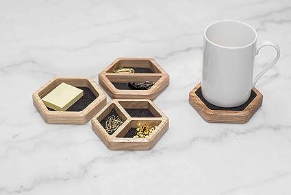 Organizador de escritorio de madera, organizador de mesa de ...