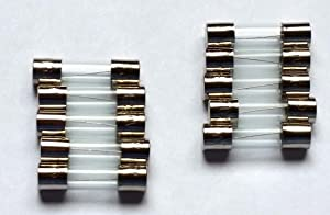 Fuses - 10 Pack - Christmas Holiday Lights C9 C7 5 Amp 125 Volt Fuses